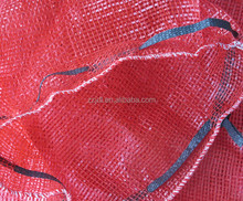 60 by 90cm Red onion sack packing circular knitting PP mesh bag for onion, potato