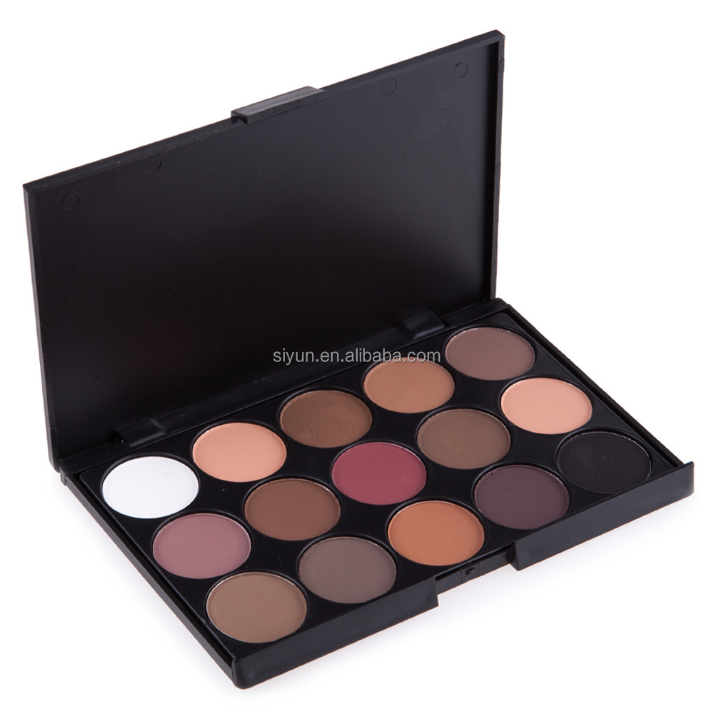without logo Professional 15 Earth Colors Matte Eyeshadow Palette Pigments Makeup Shimmer Eye Shadow Powder