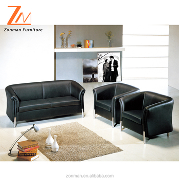 Classic style cheap sofa set single office sofa with stainless steel legs