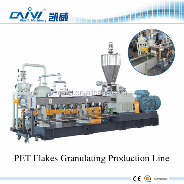 China Supplier PET Flakes Granulating Machine / Plastic PET Granulating Manufacture Production
