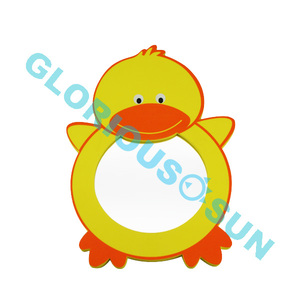 cute animal duck shape bath toys eva frame bathroom mirror on bathtime