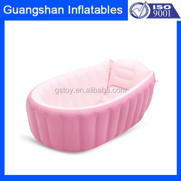 Lovely Pink Inflatable Baby Free Standing Bathtub For Sale