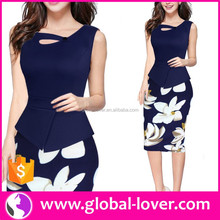Latest Designs Women Midi Career Dresses Ladies Office Wear Clothing