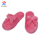 latest design pink winter flannel indoor slippers for women