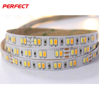 12/24v dual color led strip light 5630 3528 dimmable waterproof 300 leds warm white+pure white CCT flexible led light strip