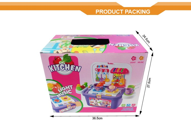 Light and music childs toy kids wonder pretend play set for Kitchen set video song