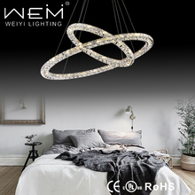 factory director sale modern crystal LED Ring Circle Pendant lamp MX7105-64