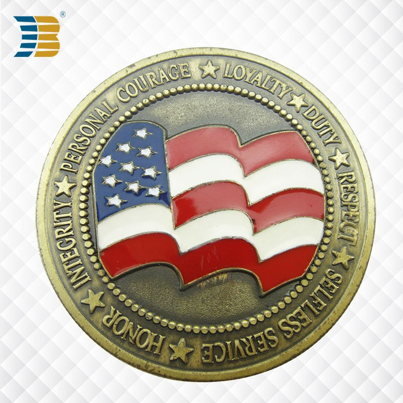 custom gold metal USA coin
