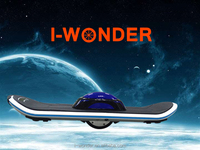 2016 Newest and popular hoverboard one wheel electric skateboard with LED lights,electric scooter self balance