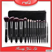 MSQ 15PCS beautiful professional antibacterial make up brushes