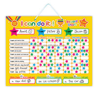 E1002 wholesales top quality magnetic learning behavior chart for toddler
