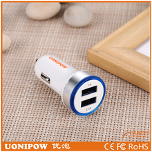 Fast car charge smart electric type 2.1a&3.4a dual usb car charger for wholesales