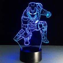 The Avengers bedroom 3d children night light,car 3d lamp bedroom decorative night,3d optical illusions led night light lamp