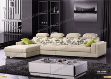 White fabric sectional recliner couch , exotic sectional sofas