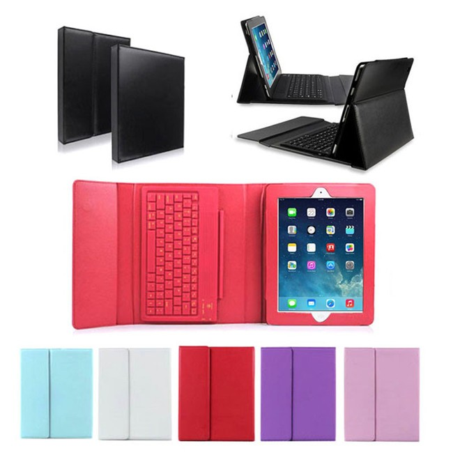 PU Leather Keyboard Case Wireless Bluetooth Stand Leather Cover Case for iPad Pro 9.7
