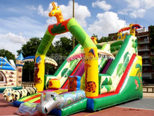 commercial inflatable slide for hire,colorful giraffe kids inflatable slide for sale