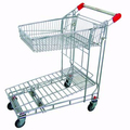 4 wheeled popular warehouse trolley for supermarket