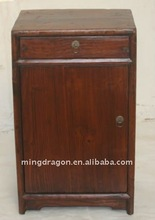 Chinese Antique Old Wood Colour bedside cabinet with one drawer one door 38*30*63cm