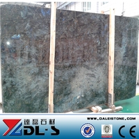 Lemurian Labradorite Blue Granite Polished Slab with Blue Flower