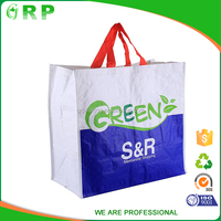 Wholesale supermarket eco folding shopping bag reusable