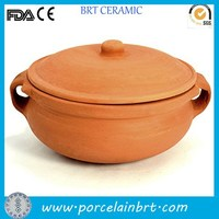 Wholesale cheap round clay custom Earthenware Curry Pot