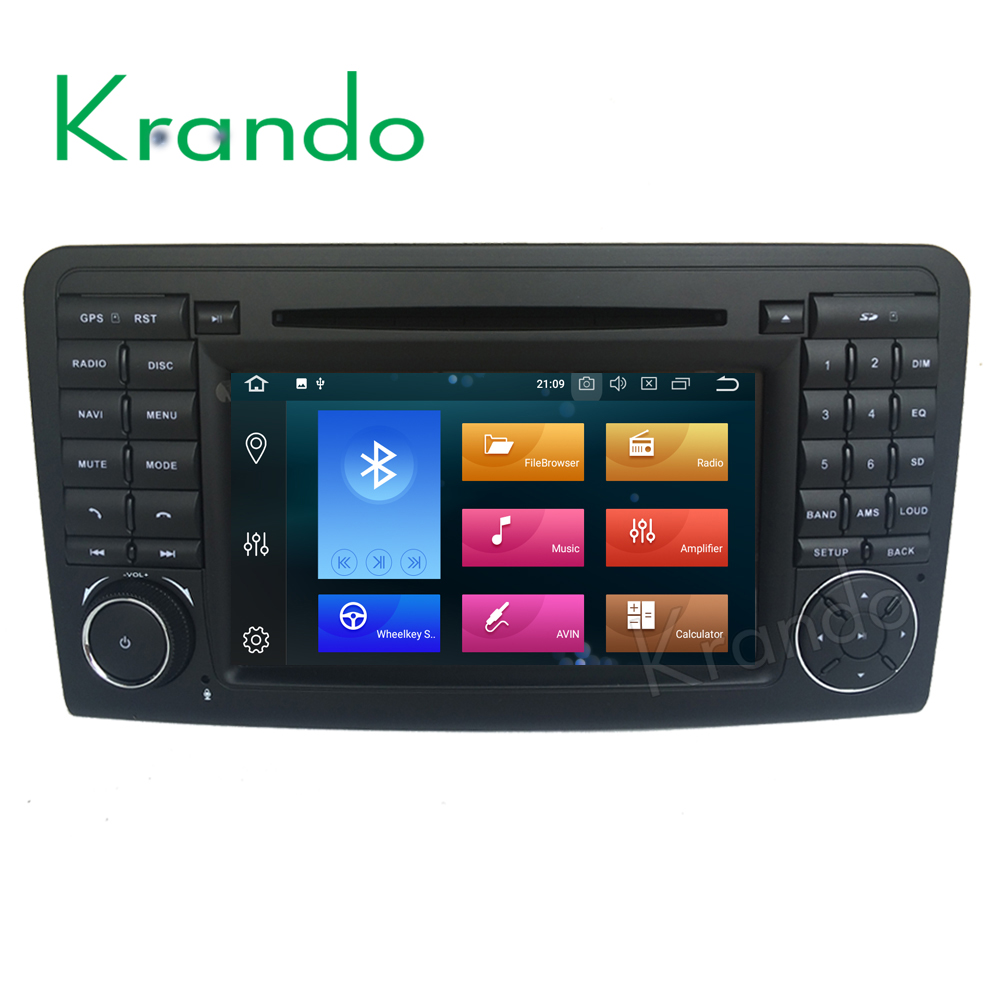 Krando <strong>car</strong> <strong>dvd</strong> player Android 8.0 7'' 8-core touch screen gps navigation for Mercedes-Benz ML Class <strong>W164</strong> radio player KD-MB164