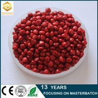 red color masterbatch for extruded pipes plastic products