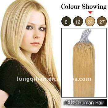 Silky straight Blonde Micro Ring Hair Extension