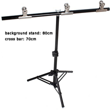 T type 80x70cm PVC Backdrop Background Small Support Stand System Light Stand With Clips Clamp For Photo Video Studio