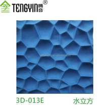 Hot sale good price China factory production interior wall decorative panel 3D polyester fiber cubic acoustic panel