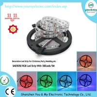 High Quality 5050RGB 300Leds/5M Led Strip For Christmas, Wedding,Party