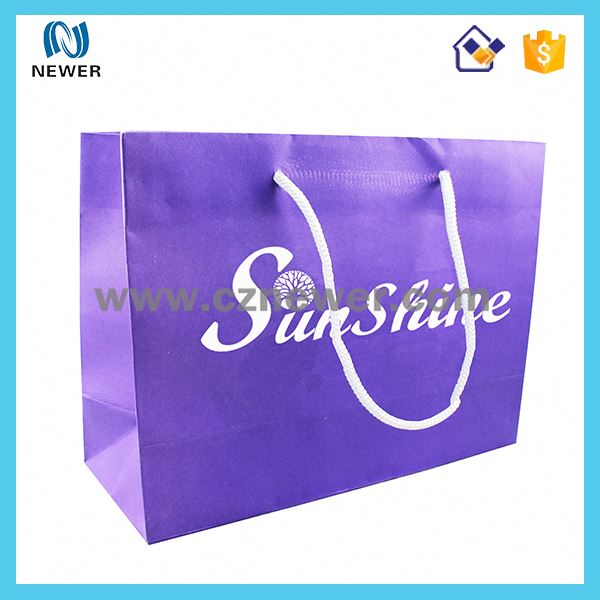 2015 Custom Logo Printed paper shopping tote bag