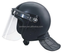 Straight visor/curved visor police anti riot helmet with neck protector