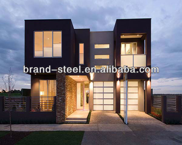 Light steel structure fast build luxury prefabricated homes