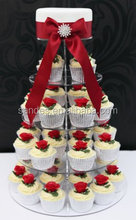 Attractive Design Clear 5 Tier Round Acrylic Cupcake Stands