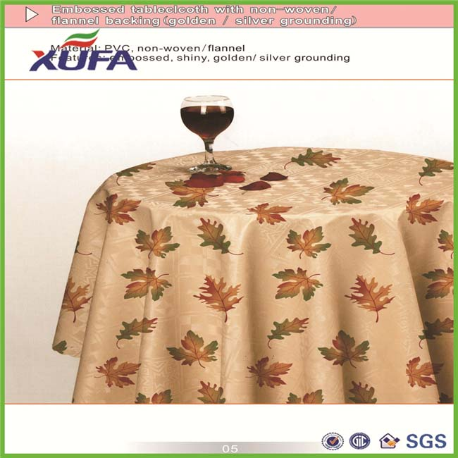PVC high quality new design PVC plastic transparent cheap vinyl tablecloth