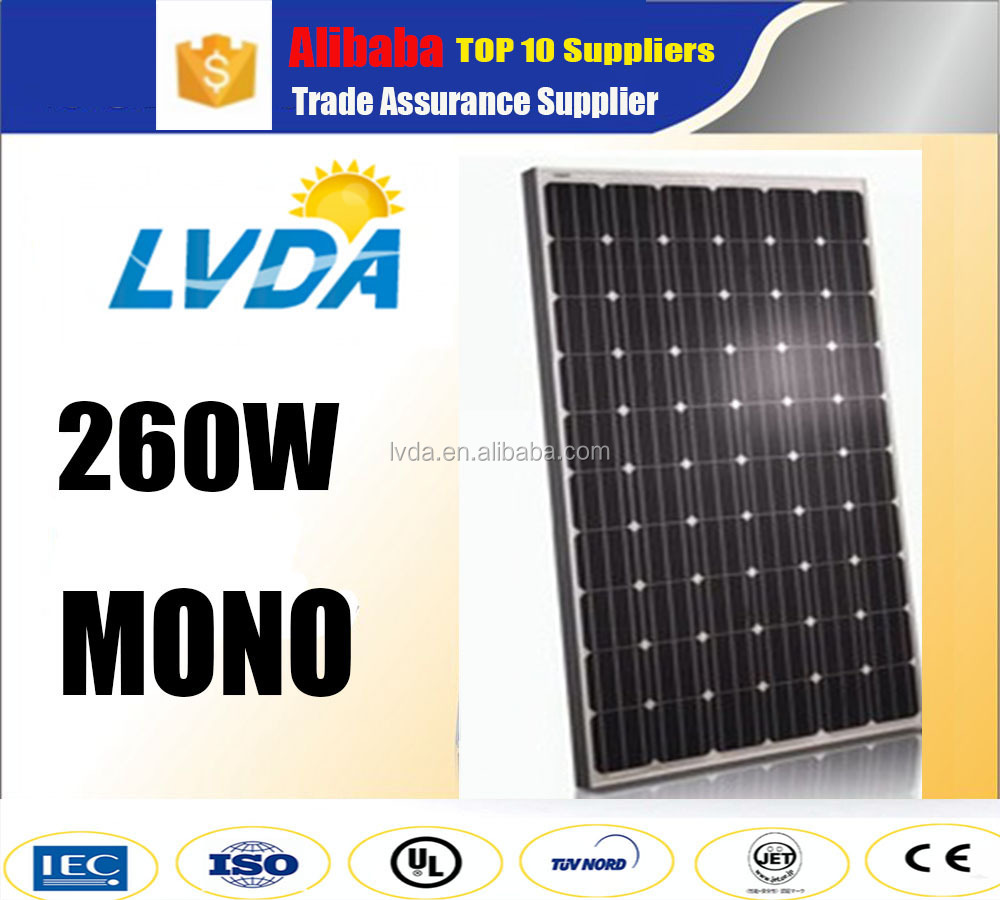 2016 hot seller CE approved 260w 265w 270w 275w 280w 285w mono solar panel