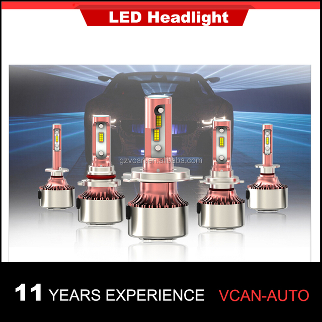 Best seller! 1 Pair H1/H3/H4/H7/H11/H13/H16/9004/9005/9006/D1/D2/D3/D4 LED Headlight Bulbs Conversion Kits with CANBUS