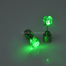 Fashion Light Glowing LED Earrings Ear Drop Crystal Pendant luminous earrings