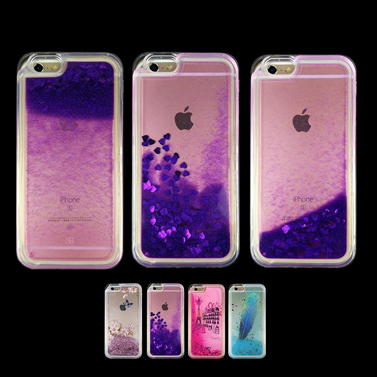 Quicksand phone case ,Colorful Bling Shining Liquid Glitter Water Series TPU Case For iPhone 6/6s/6plus