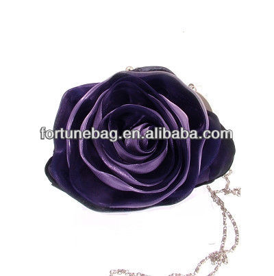 rose satin evening clutch bags