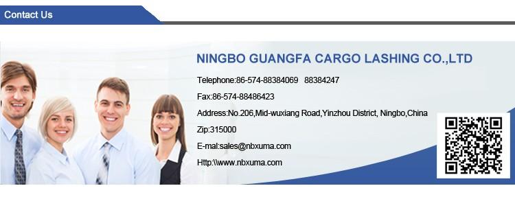 TUV GS polyester cargo arrimage à cliquet sangle d'arrimage