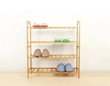 cheap natural folding wood shoe rack for wholesale
