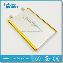 lipo battery 3.7v 4000 rechargeable battery pack
