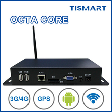 TISMART android 4.4 1080P full hd media box media player digital signage box for inside taxi <strong>advertising</strong>