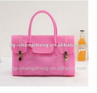 2013 New!!! lady or girls fashion silicone handbag , candy color jelly silicone beach bag