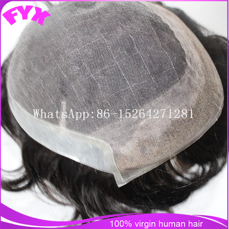 Hair wigs for black men swiss lace with clear pu around and side short human hair wig for black women