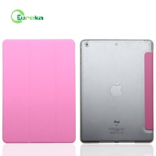 Wholesale ultra slim plastic flip leather cell phone case for IPad Air 2