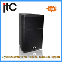 Top grade amusement active 12 inch professional loudspeaker system