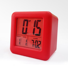 2014 New design Advance Time Technology Silicone LED Alarm Clock with Matching Backlight